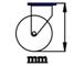 Bánh xe Cao su lõi gang 150 càng thép cố định (Ảnh 5)