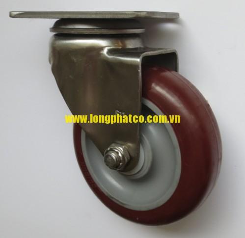 Bánh xe đẩy càng Inox 304 PU xoay